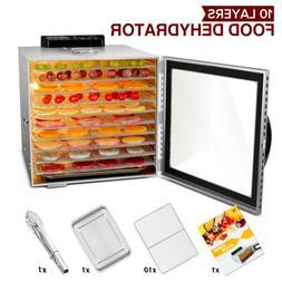 KWASYO Pro Food Dehydrator with 10 Drying Racks  with LED li
