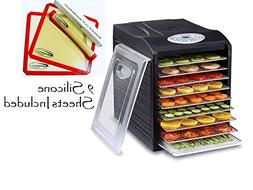Samson Silent 9 Stainless Steel Tray Dehydrator with Digital