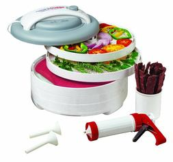 Snackmaster Express Food Dehydrator All-in-One Kit with Jerk