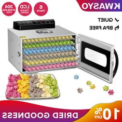 KWASYO Stainless Steel 6 Layers Food Dehydrator Meats and Ch