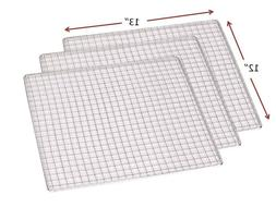 3-PACK Stainless Steel 12 x 13 Dehydrator Drying Trays Fits
