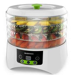Cooks Club White Food Dehydrator with Adjustable Timer and H